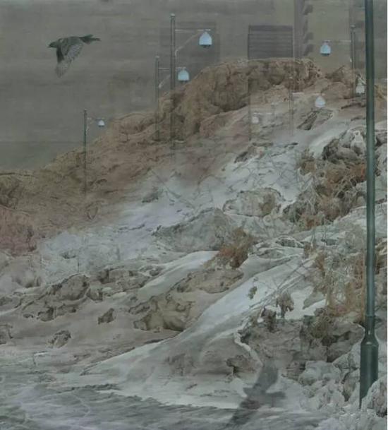 姜  巍 《心  向》  220 x240cm  2014  纸本