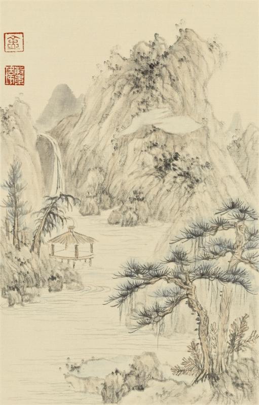 古意抒怀册 绢本设色 (1)
