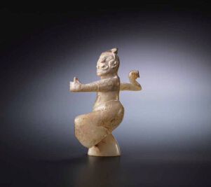 东汉  玉雕说唱舞人