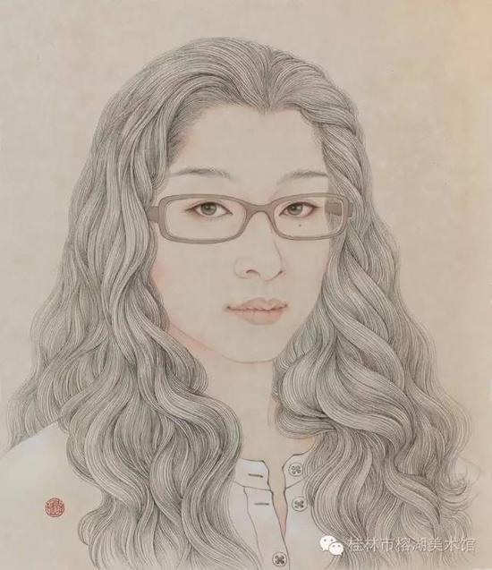 轩 30×26cm 纸本  廖萱