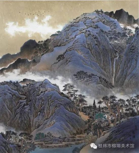 林泉清韵 68×68cm 纸本设色   刘龙耀