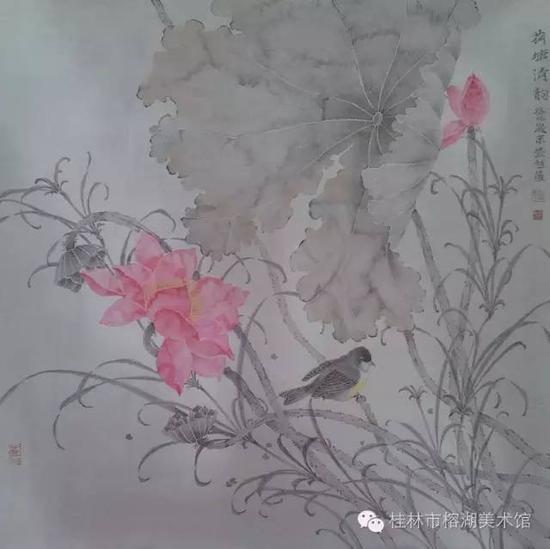 荷塘清韵 66×66cm 纸本设色  张超