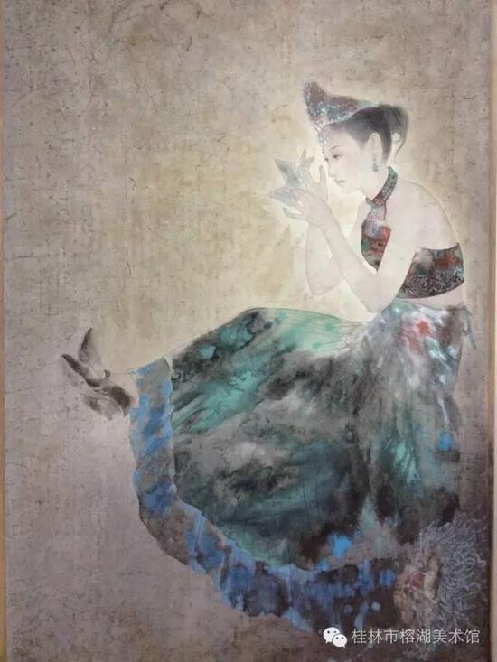 梅葛舞者 176×113cm  纸本设色  王锦霞