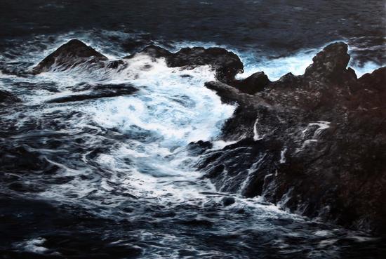 韩砚朝-今夜无人入眠 布面油画 Nessun Dorma Oil on canvas 375X252cm 2013