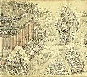 圖1 台北故宮博物院藏清沈源《佛像卷》局部