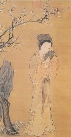 《梅花仕女圖》 台北故宮博物院藏