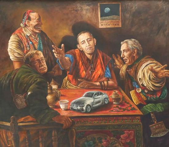 索曼尼-轮回转世的生灵•炫,布面油画