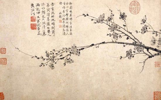 元 王冕 《墨梅圖》上海博物館藏