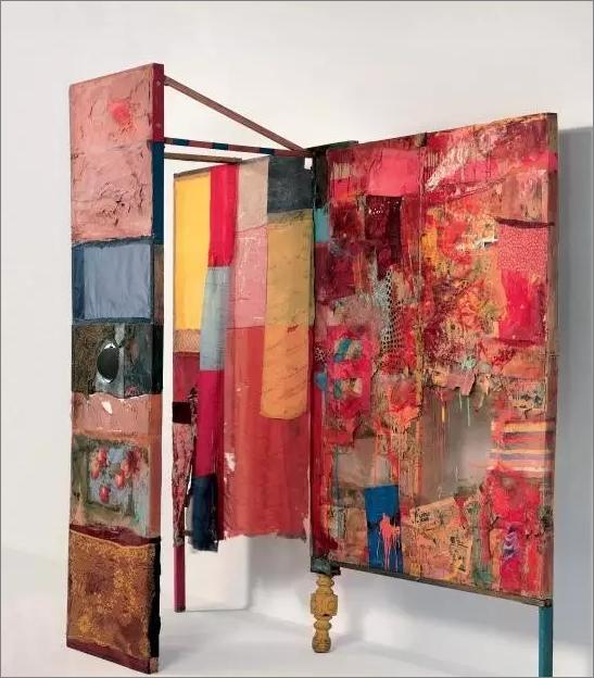 RobertRauschenberg: MINUTIAE 组合绘画或混合材料,1954