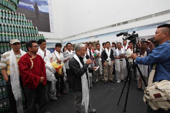 """2010""""烈日西藏""""展览开幕现场-栗宪庭先生致辞"""