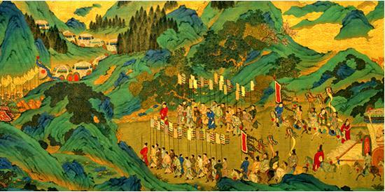 明代 《漢武帝上林出獵圖》 現藏台北故宮博物院