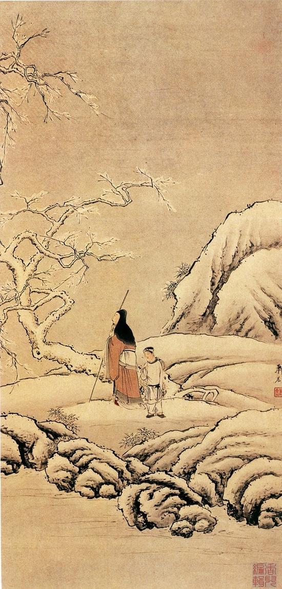 清 蕭晨 《踏雪尋梅圖》 青島博物館藏