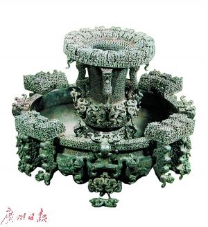 战国中期 蟠螭纹铜盘(曾侯乙墓出土)