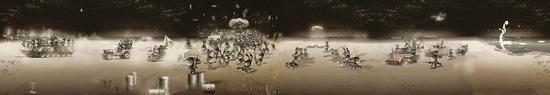 之之《贩战》200X45尺寸可变cm收藏级无酸绵纸艺术微喷2011