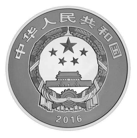 1公斤圓形精製銀質紀念幣正面圖案