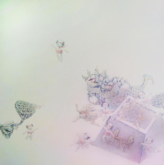 《妮妮》,布面油画,100cmx100cm