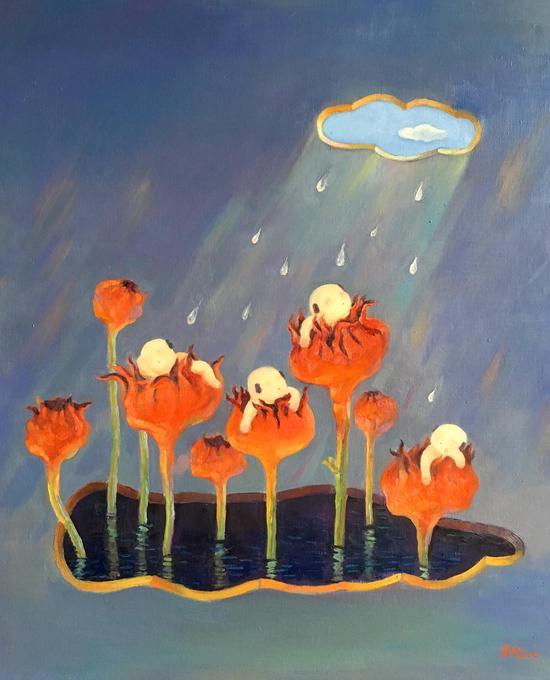 《润____象》系列之一,布面油画,50x60cm