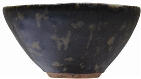 南宋吉州窑黑釉剪纸贴花纹茶盏