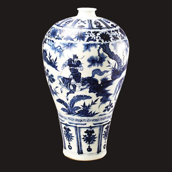 青花月下萧何追韩信图梅瓶 南京市博物馆总馆