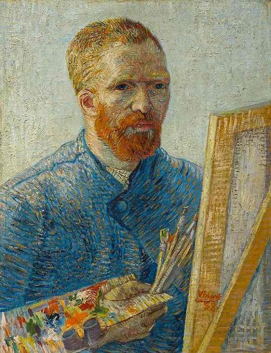 梵高《作为画家的自画像(1887-88)》,图片:梵高美术馆