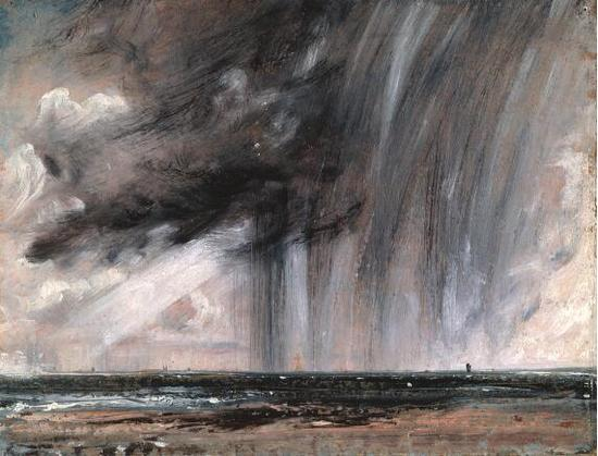 约翰·康斯特布尔 John Constable - Seascape Study With Rain Cloud