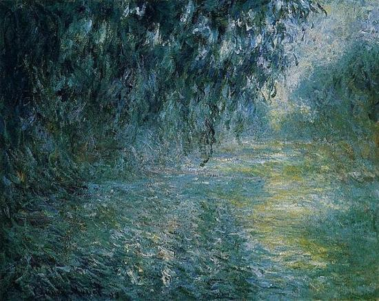 莫奈 Claude Monet - Morning On The Seine In The Rain