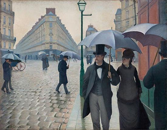 居斯塔夫·卡耶博特 Gustave Caillebotte - 《巴黎的街道·雨天》(Paris Street,Rainy Day)