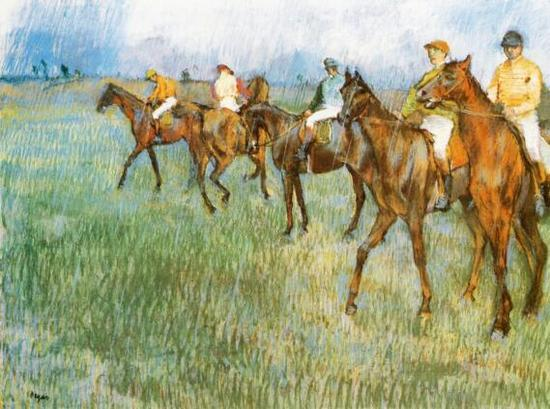 埃德加·德加 Edgar Degas - Jockeys In The Rain