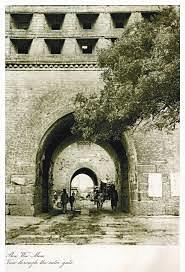 1921,广渠门全貌(南面)。奥斯伍尔德·喜仁龙摄。