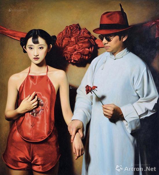 陈承卫《大民国—红玫瑰》 成交价:103.5万 2013年作 北京保利2016春拍