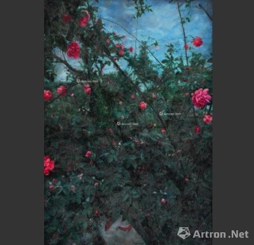 王岱山 《花园系列四》 成交价:28.75万 2008年 北京翰海2016春拍