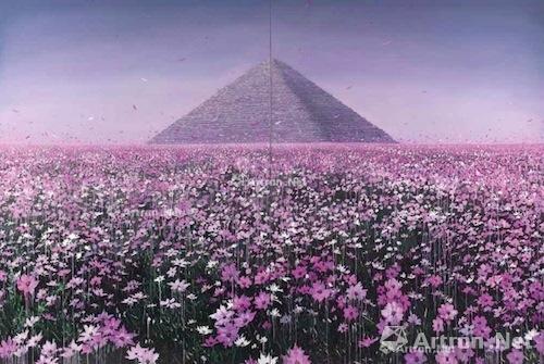 赵博 《在那鲜花盛开的地方-3号》 成交价:57.6万 2012年 香港佳士得2016春拍