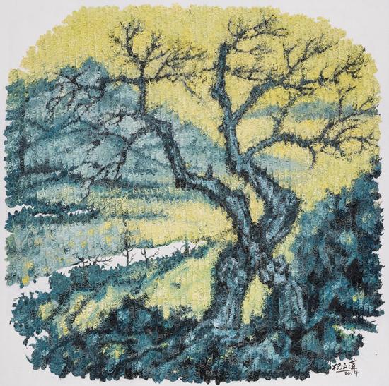 杨文萍 石・象-6 80x80cm 布面油画