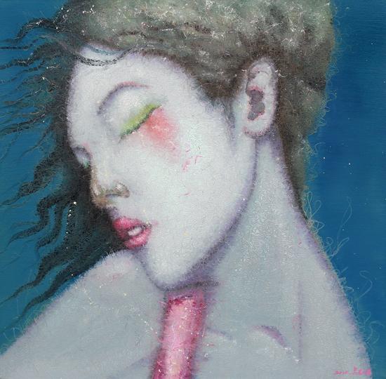 吴志鹏 画布上的声音 60x60cm 布面油画