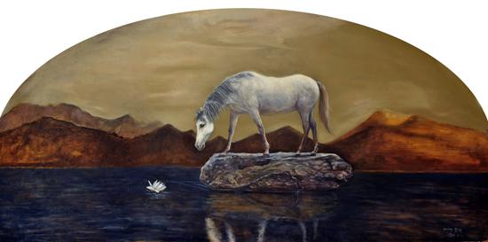刘阳 理想之地―寂静之声 160x81cm 布面油画