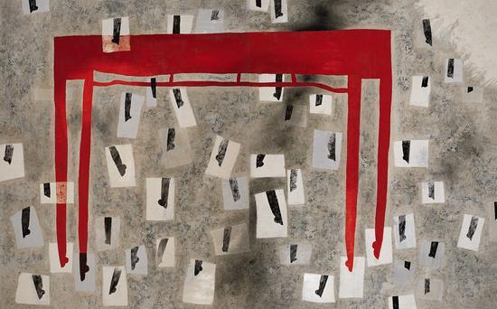 王怀庆 足-2 双联作 油画画布 1999年作 香港苏富比2016春拍 成交价:5452万港元 刷新艺术家成交纪录