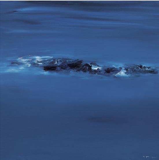 布面油画《灵 • 一 》 尺寸:100X100cm 创作年代:2013
