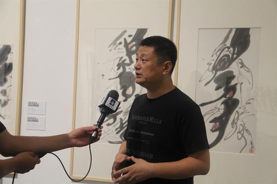 中央美术学院赵力教授接受书画频道采访