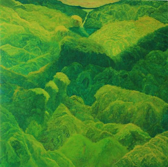张智洲 《黄绿山水》