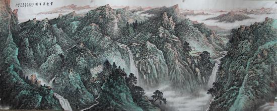 云壑清晖图230x560cm 2013年