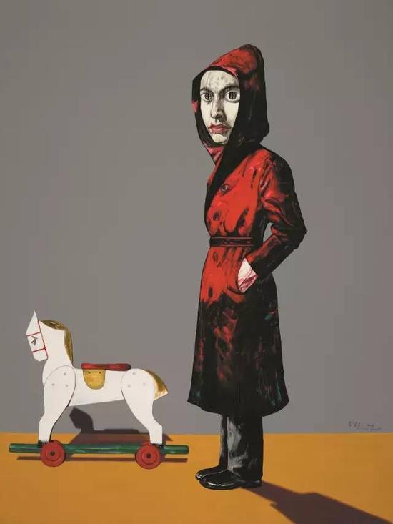 曾梵志,《肖像》,2004,布面油画,200 x 150 cm,图片提供:曾梵志工作室