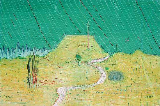 一田山。绿200x300cm 2012布面油画