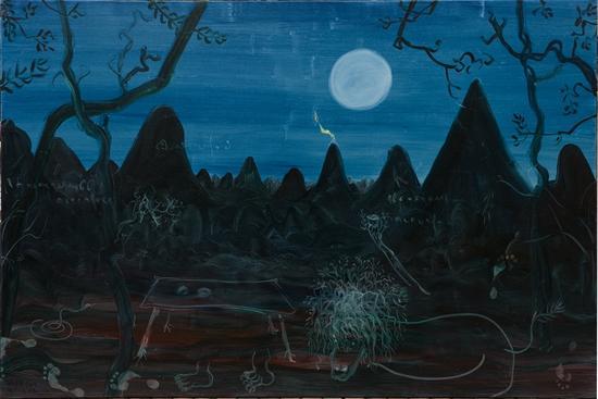 举杯邀月圭山魂200x300cm布面油画 2012