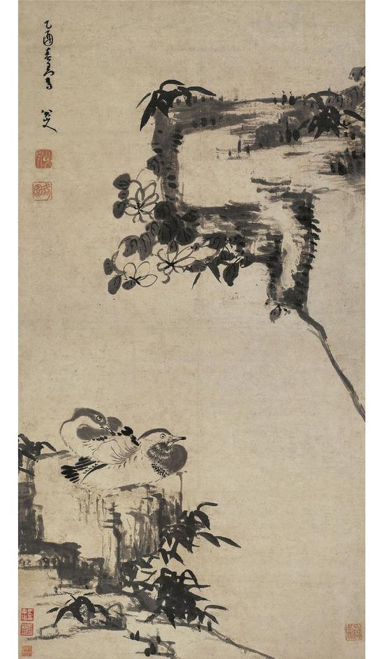 2010西泠秋拍 八大山人《竹石鸳鸯》 成交价1.1872亿元 创八大山人最高成交纪录并保持至今