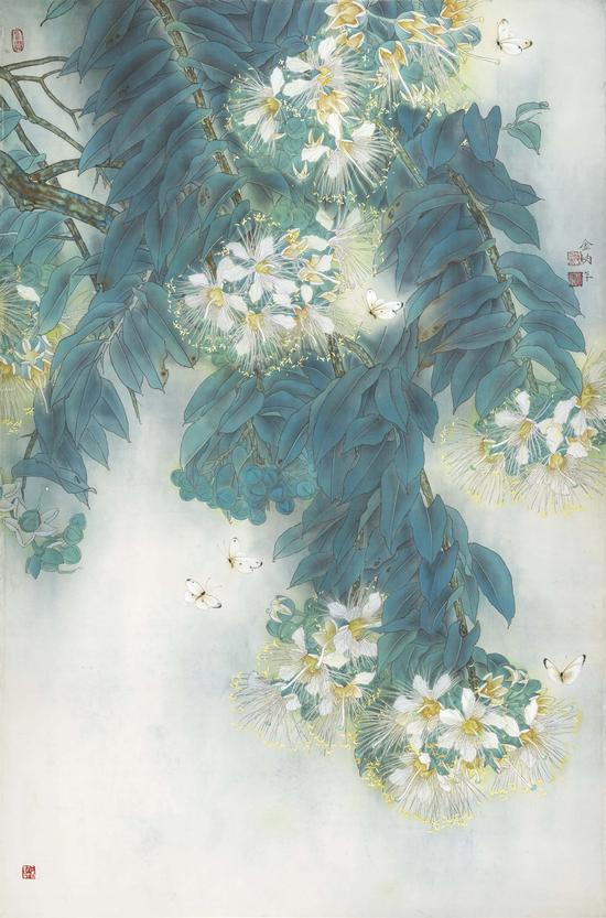 金纳《晨曲》绢本90x130cm2015年
