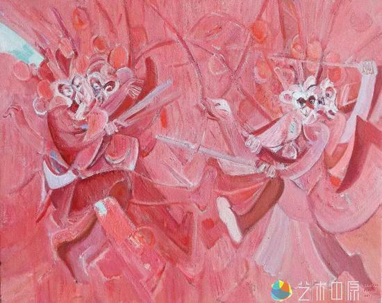 《出离》  布面油画  80×100cm  2015年    杨中伟