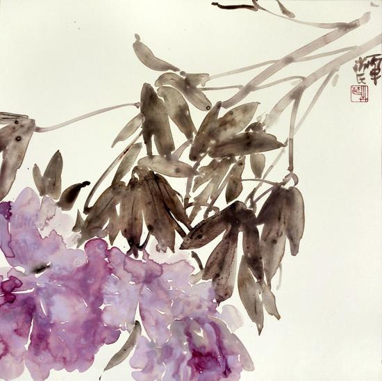 《天香》系列之十三68x68cm纸本水墨2016