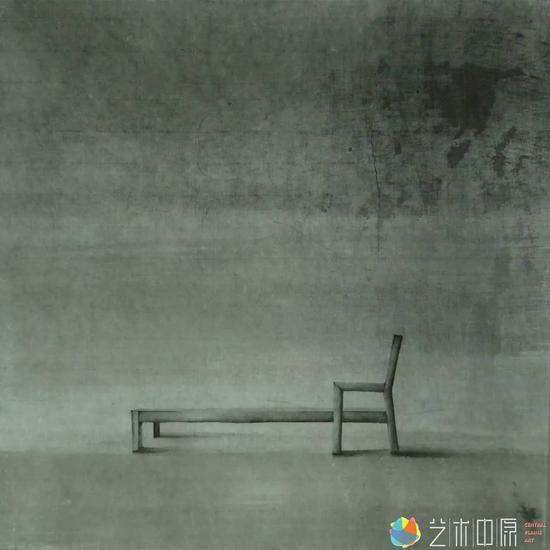《小象有形5》  纸本水墨  33.3×33.3cm  2013年  朱子奇