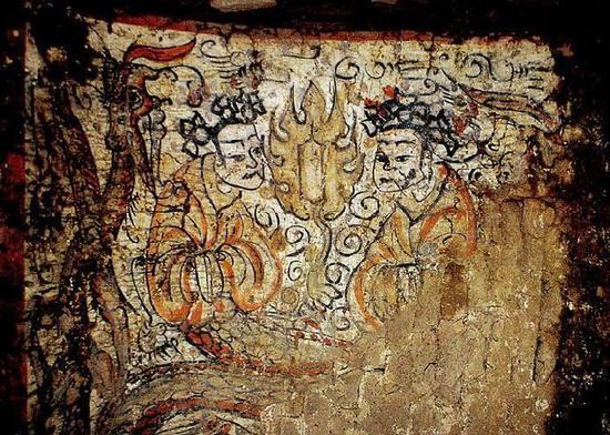 北魏墓葬中的伏羲女娲图