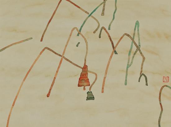 《荷音》纸本水墨2008年刘丽萍